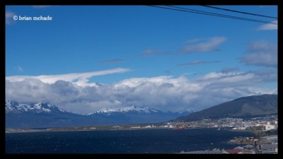 a first glimpse of Ushuaia...