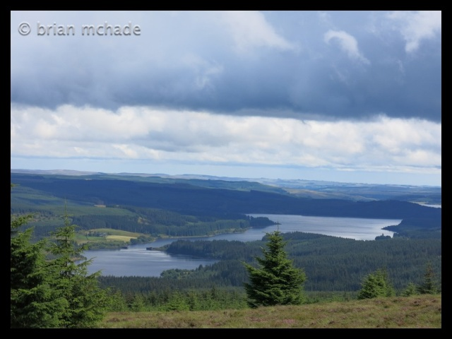 View of Kielder water from the lonesome pine trail...