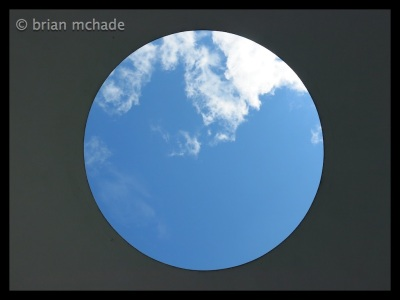 looking at the sky from inside skyscape ...