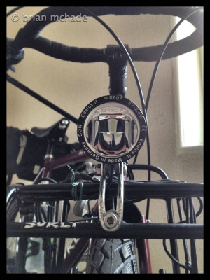 Surly front rack and Edelux II light....